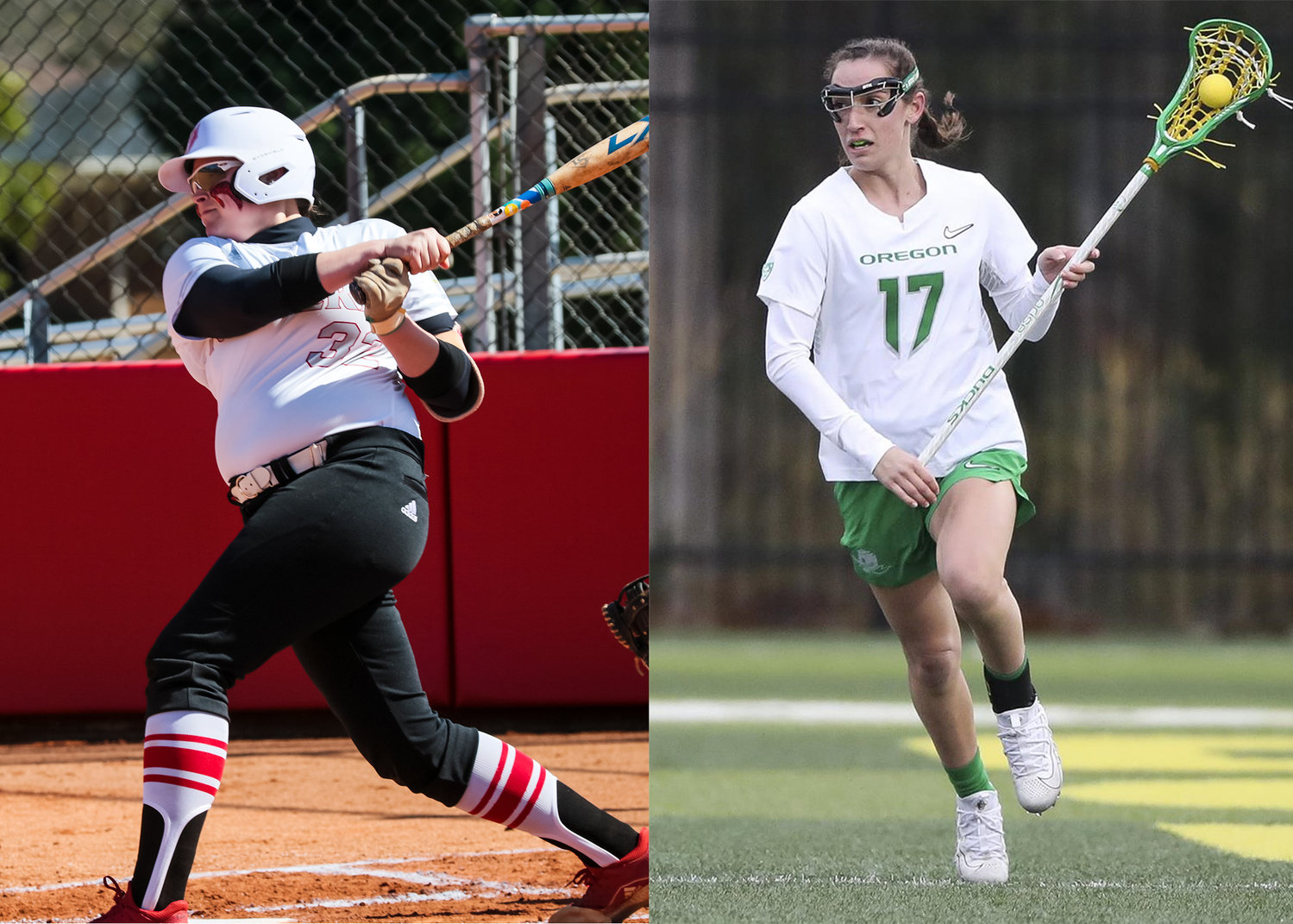 Haley Simonds had recently become the conference's all-time leader in runs batted in before her senior season at Newberry College was cut short by the coronavirus crisis. Claire Domshick was off to a strong start to her junior season for the University of Oregon women's lacrosse team when her season came to and end.