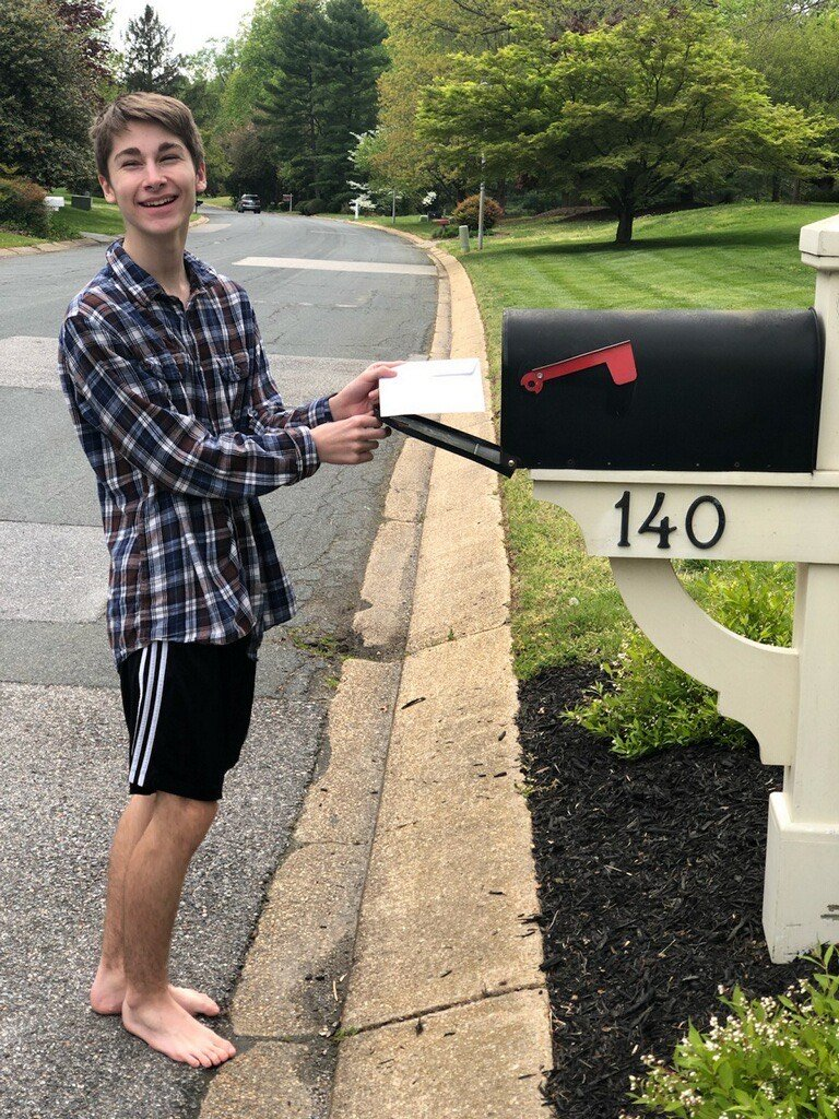 "Brendan Dennis mailed a letter to his ""little pal."""