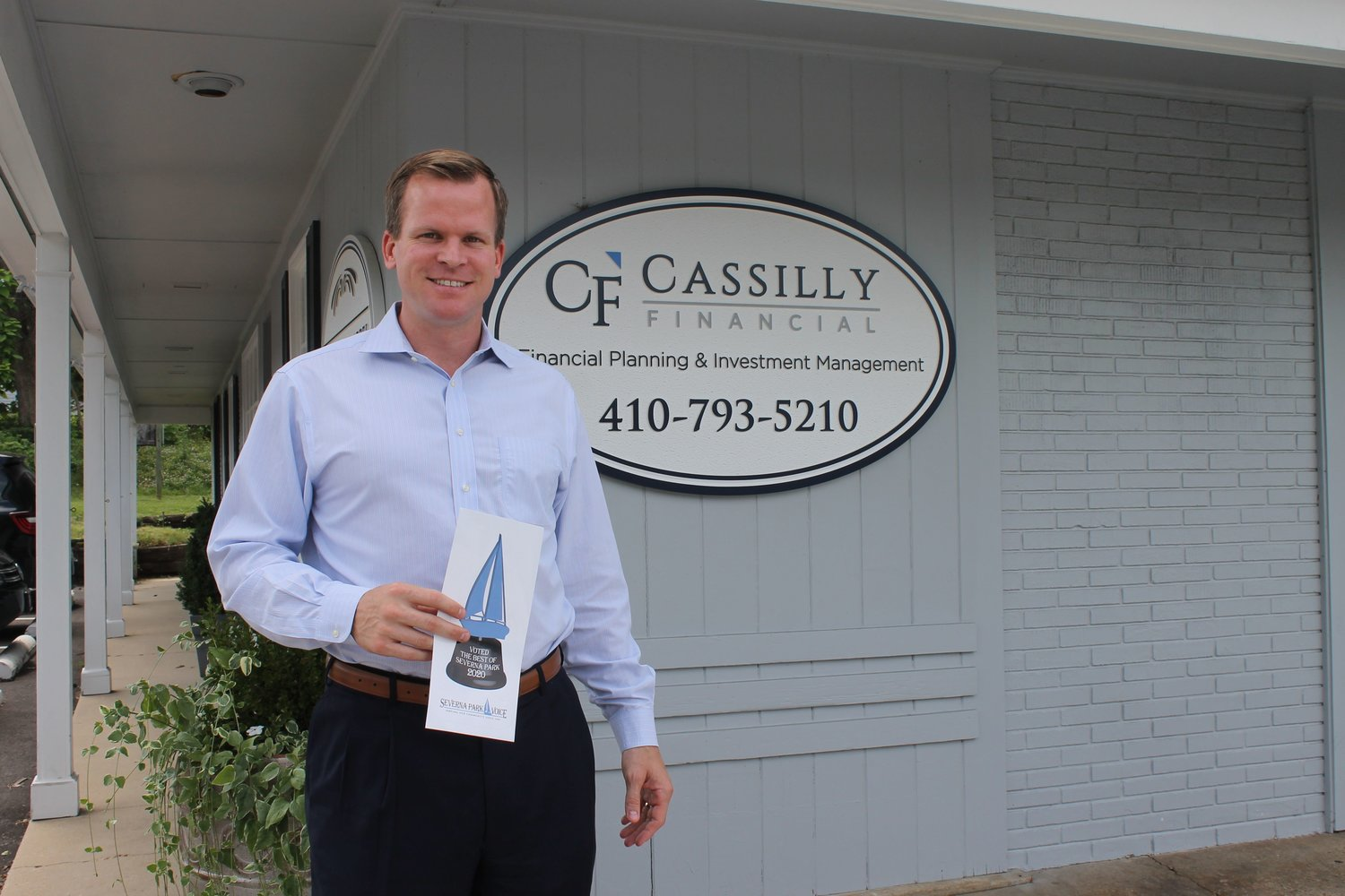Frederick Cassilly of Cassilly Financial Group was named Best Insurance Adviser.