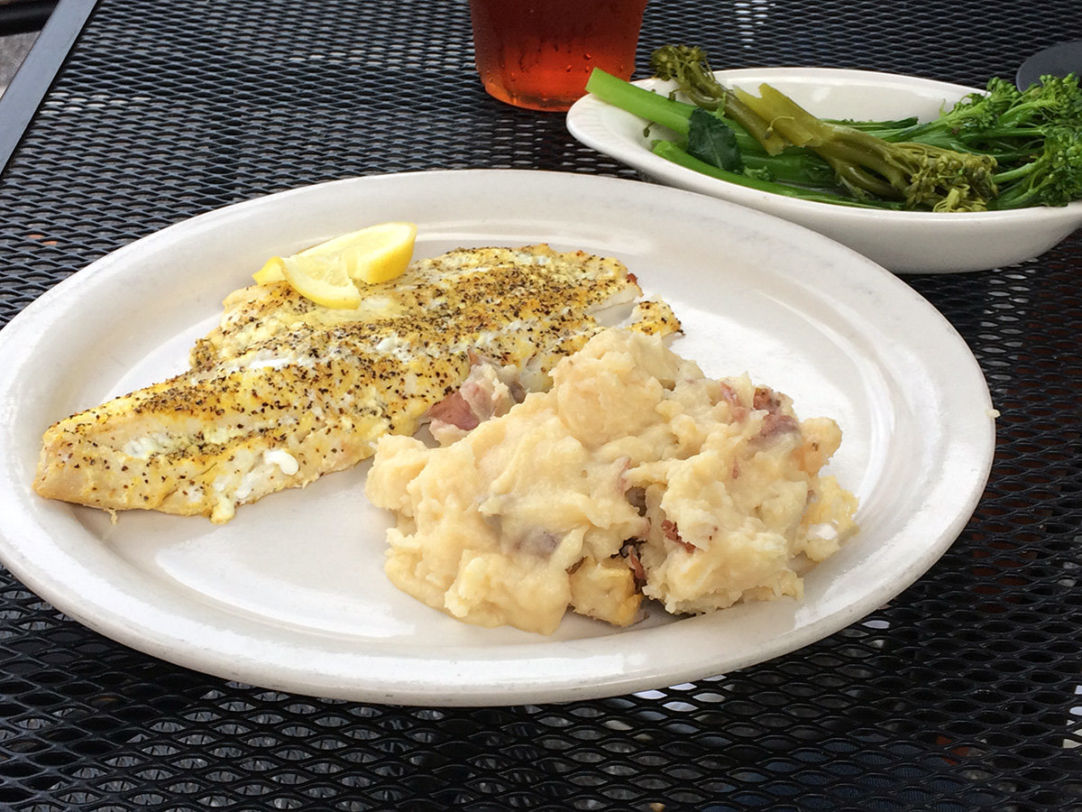 Lemon haddock was a special for the evening, served with homemade mashed potatoes.