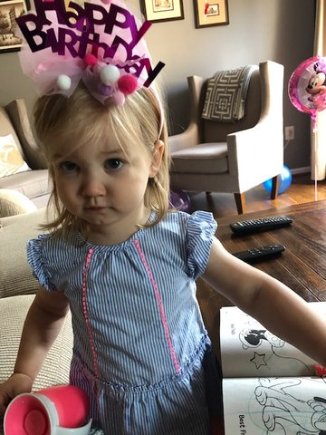Charlotte Meyer celebrated her second birthday in June.