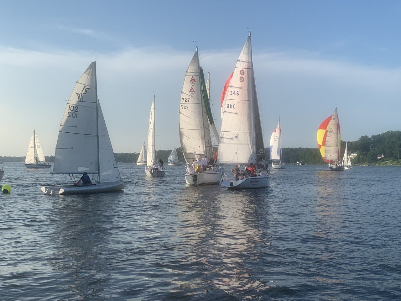 RBSA boats were photographed just after the windward mark rounding.