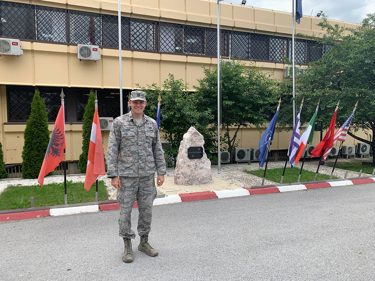 In June, Erik Schuh returned from NATO's KFOR headquarters at Camp Film City in Kosovo. The headquarters oversees the operations of two NATO battle groups in Kosovo.