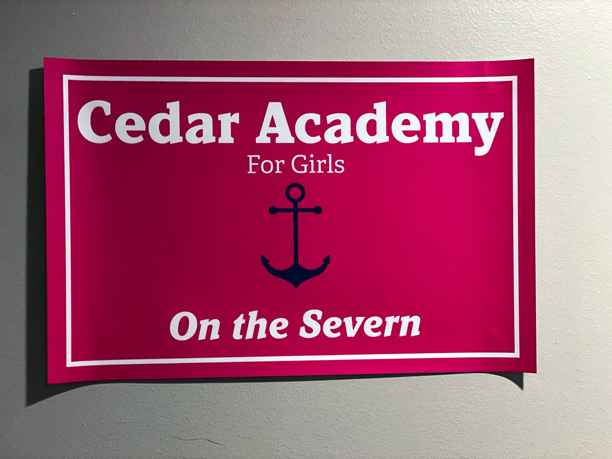 Jessica Hermanstorfer jokingly refers to her basement classroom as the Cedar Academy for Girls - On the Severn.
