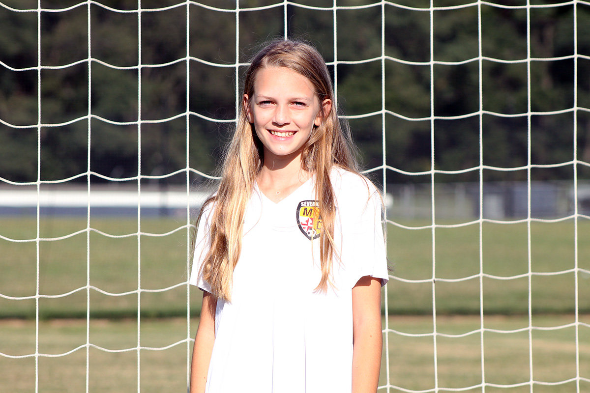 With four of her five brothers having played soccer, 11-year-old Jordan Dill has grown up with the sport and developed a natural leadership style.