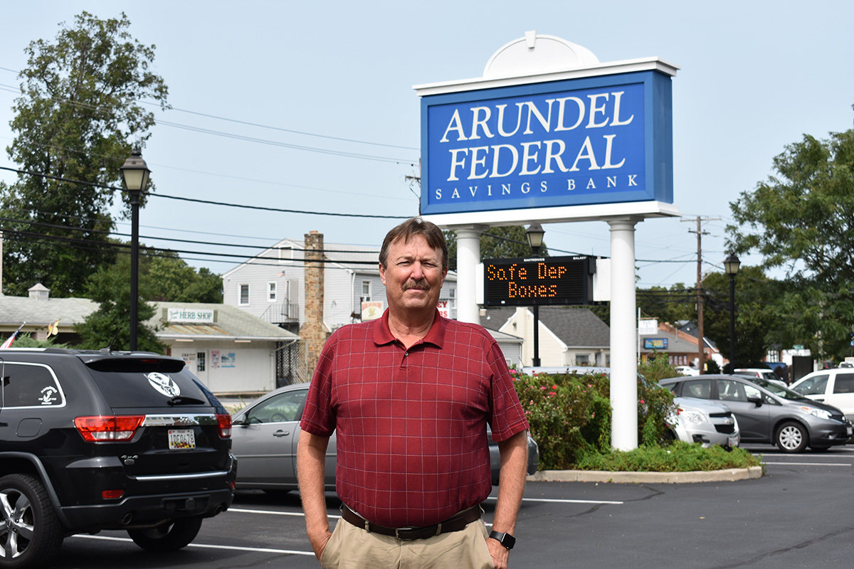 Arundel Federal Savings Bank President and Chief Operating Officer Thomas Herpel has worked for the bank for 29 years.