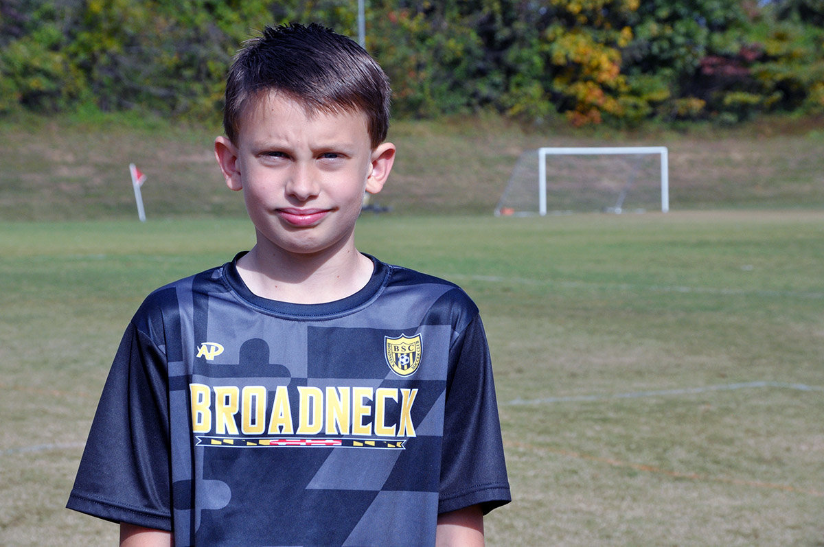 Nathan Crosby played soccer on the 13U BAYS team this year.