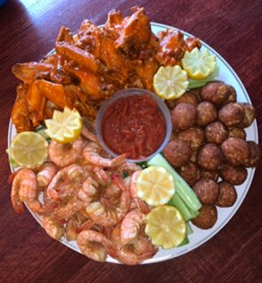 Severna Park Taphouse is offering to-go platters. Popular picks include wings, veggies and cheese, dips (queso, chicken buffalo or crab), shrimp cocktail, oysters on a half shell, crab balls, club sandwiches and more.