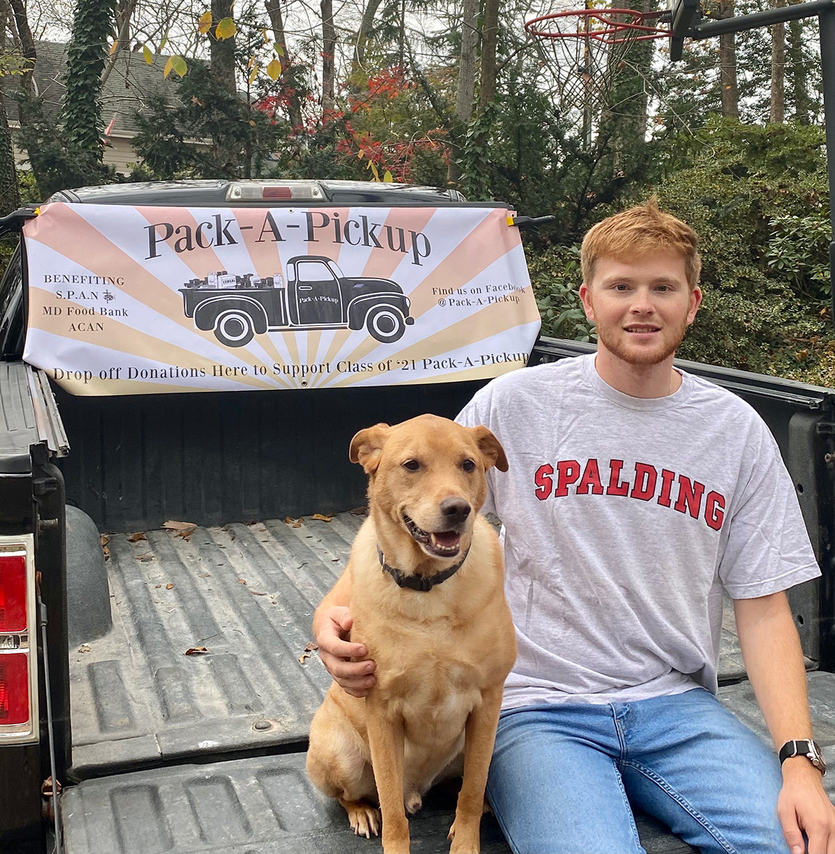 High school senior Brice Persico was named the December Margueritte Mills Volunteer of the Month for his Pack-A-Pickup food drive.