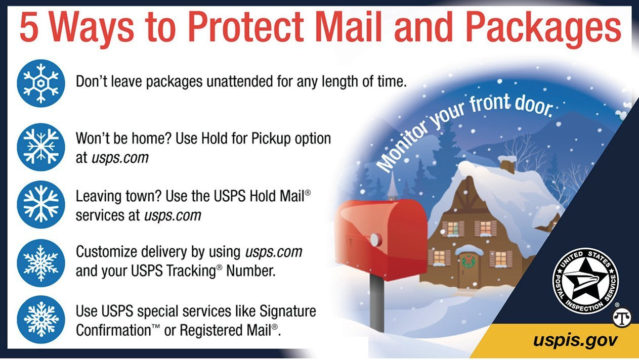 A few simple steps can help make sure the packages you send and receive this holiday season end up in the right hands.
