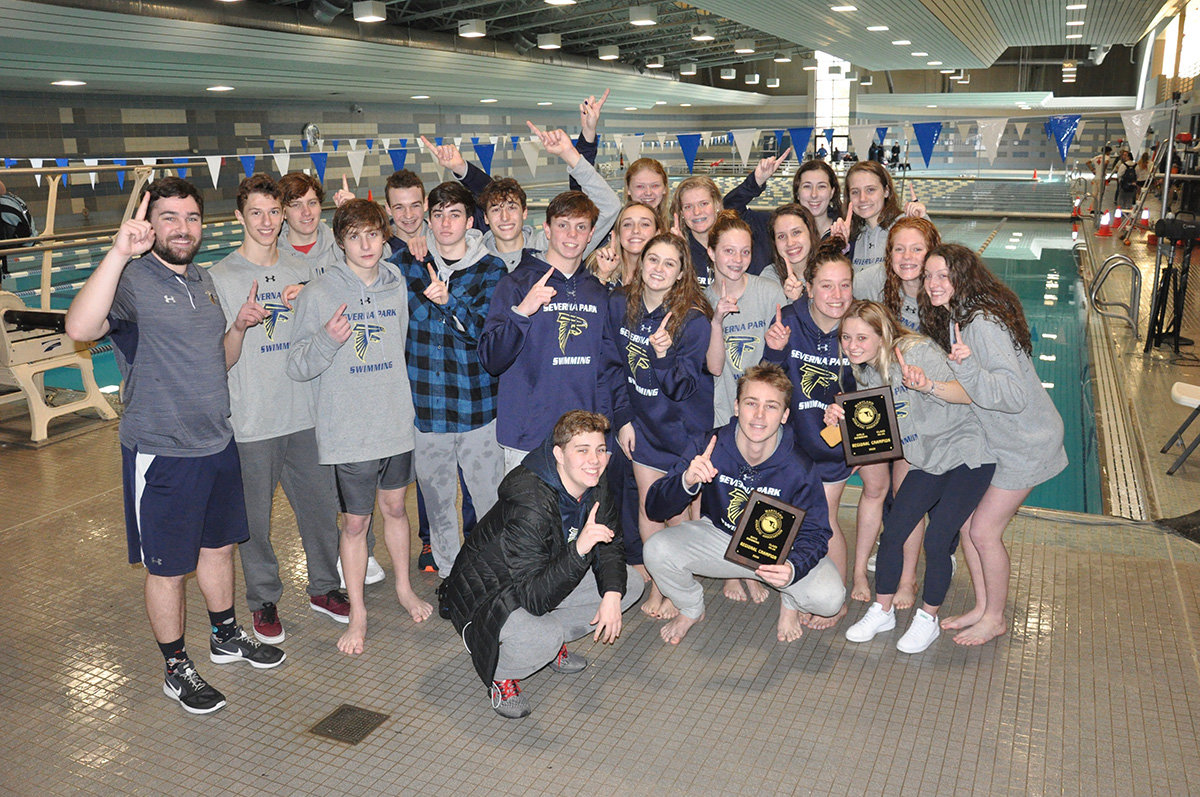 Both the boys and girls represented Severna Park during regionals last winter.