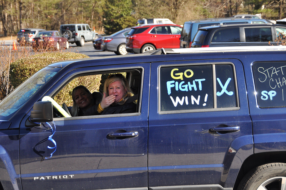 "Former Severna Park High School athletes and friends of beloved coach Lillian ""Lil"" Shelton gathered at Severna Park United Methodist Church on January 30 for a drive-by tribute."