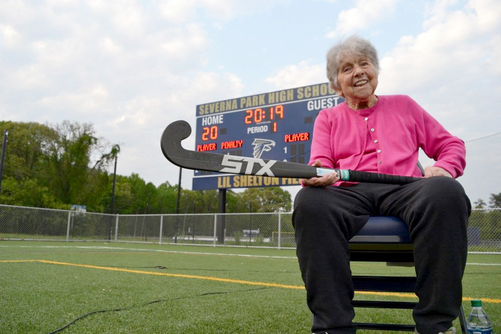 Lil Shelton retired from coaching in 2011, but she continued to support Severna Park High School field hockey.