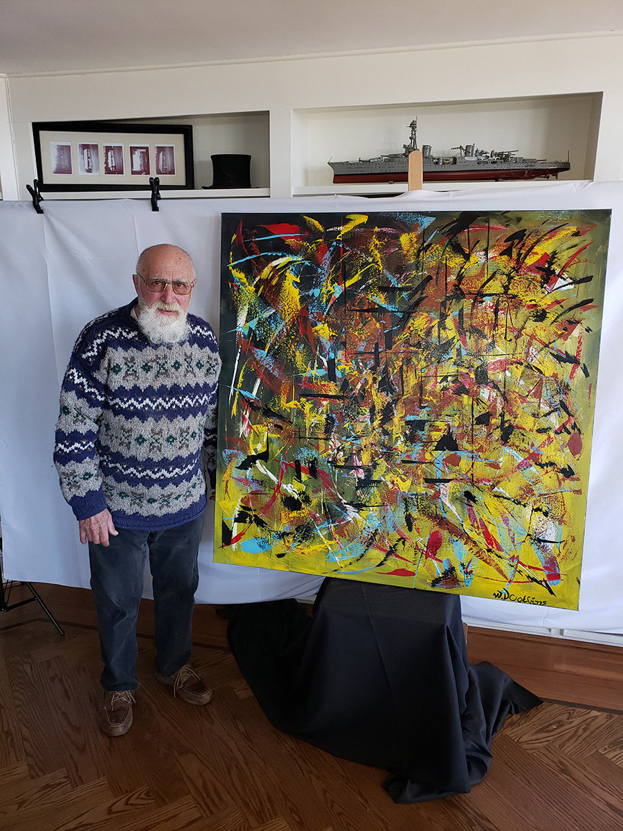 William N. Collins has filled his home with more than 120 paintings since the pandemic started.