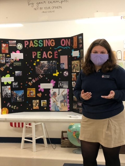 The 14 students chose subjects that had topics as far-reaching as Harriet Tubman's Underground Railroad to John F. Kennedy's assassination.