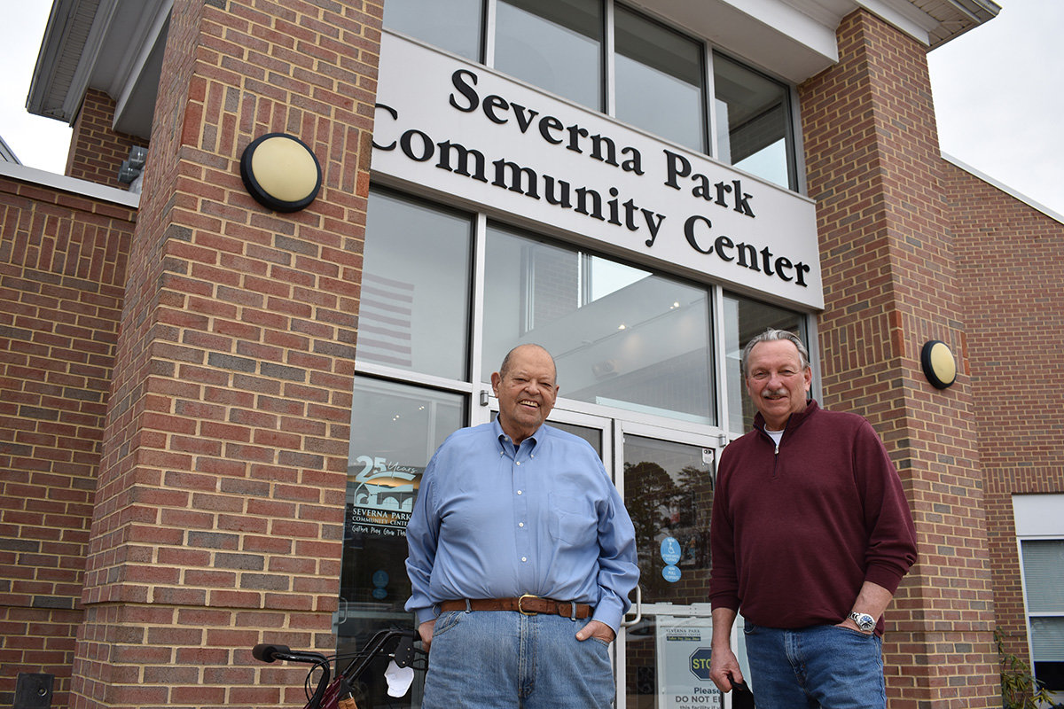 Carl Gutschick and Andy Borland were two of the nine founding Severna Park Community Center members chosen to be honored at the 2020 SPCC fundraising gala. They will instead be honored at the next gala, hopefully in fall 2021.