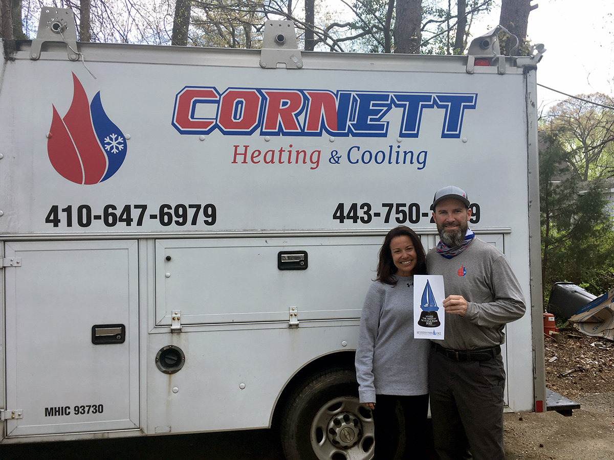 Cornett Heating & Cooling was voted Best HVAC Contractor.