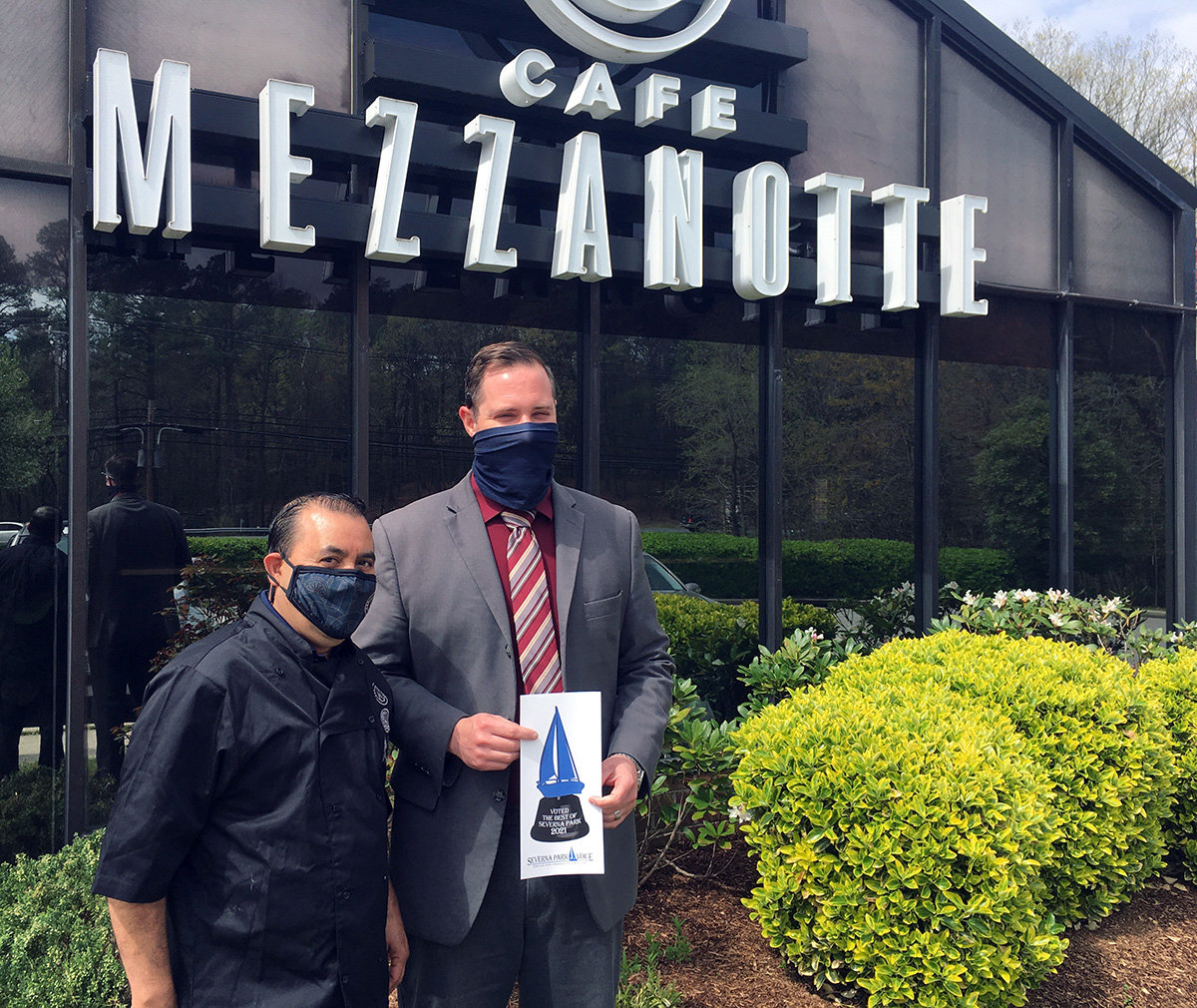 Cafe Mezzanotte was voted Best Italian and was also recognized for Best Special Occasion.
