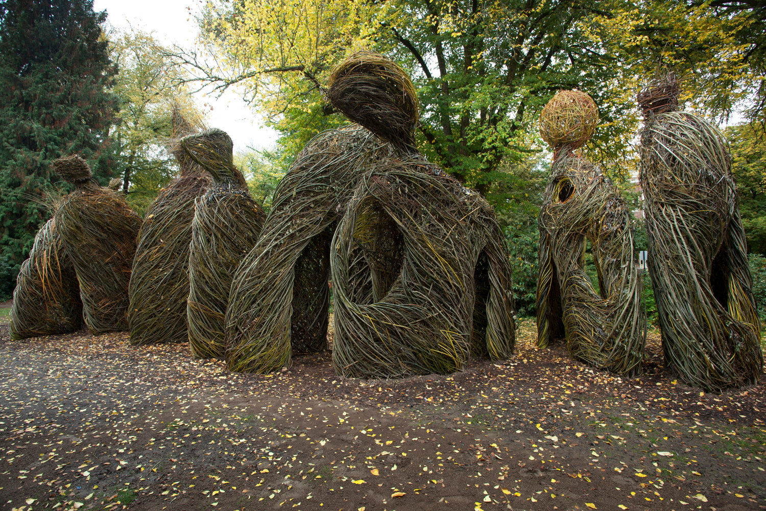 """Pomp and Circumstance"" is a work by Patrick Dougherty at Oregon State University."