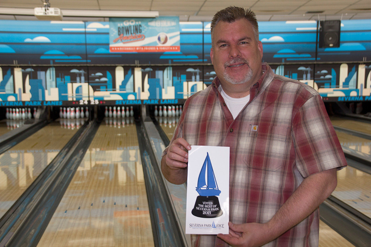 Mike Hall represented Severna Park Lanes, which was voted Best Place For Family Entertainment.