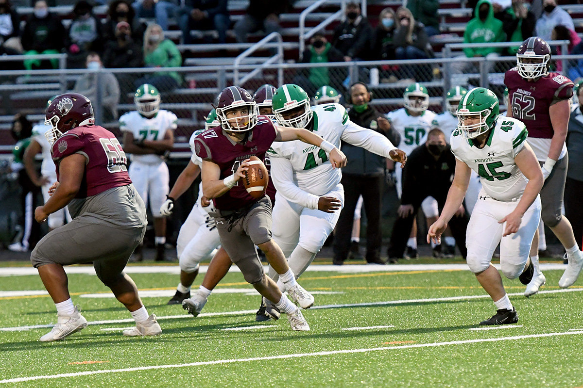 Broadneck quarterback Josh Ehrlich tossed four touchdowns in a 50-20 rout of Arundel on April 9.
