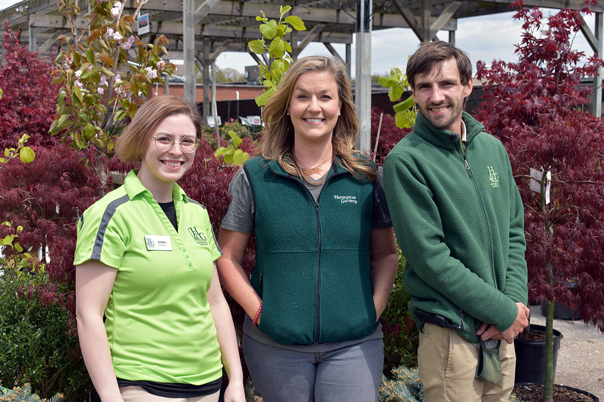 Heidi Tyler, Steph Stowell and Zach Ebaugh work hard to bring joy to their customers and make gardening accessible to anyone.