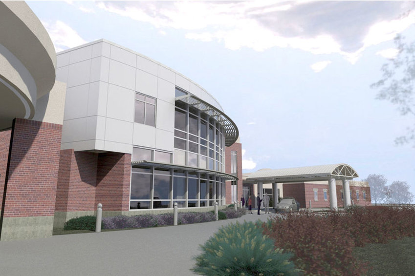 Memorial Health Care Systems in Seward is planning to ad 15,300 square feet of new space to its current facility. Pictured is a rendering of the planned addition which is scheduled to be finished in 2016.