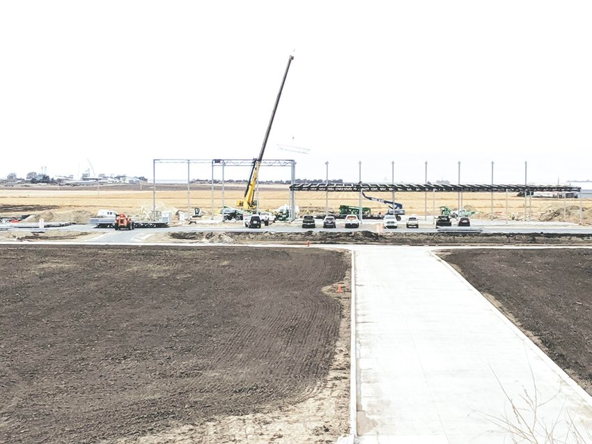 Construction is well underway at the site of Petsource by Scoular, which will open in Seward's Rail Campus on the south end of town in the fall of 2020.