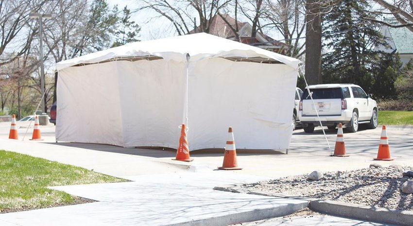 Memorial Health Care Systems in Seward has set up a tent outside its facility, which provides a place for potential COVID-19 patients to be tested without going into the clinic or hospital. The clinic asks anyone who thinks they may have the virus to call ahead before coming in. Call (402) 643-4800. The goal is to limit the spread of the virus from patients with mild symptoms within the building. Those patients are asked to go home and isolate themselves. Patients with more severe symptoms may be admitted to the hospital.