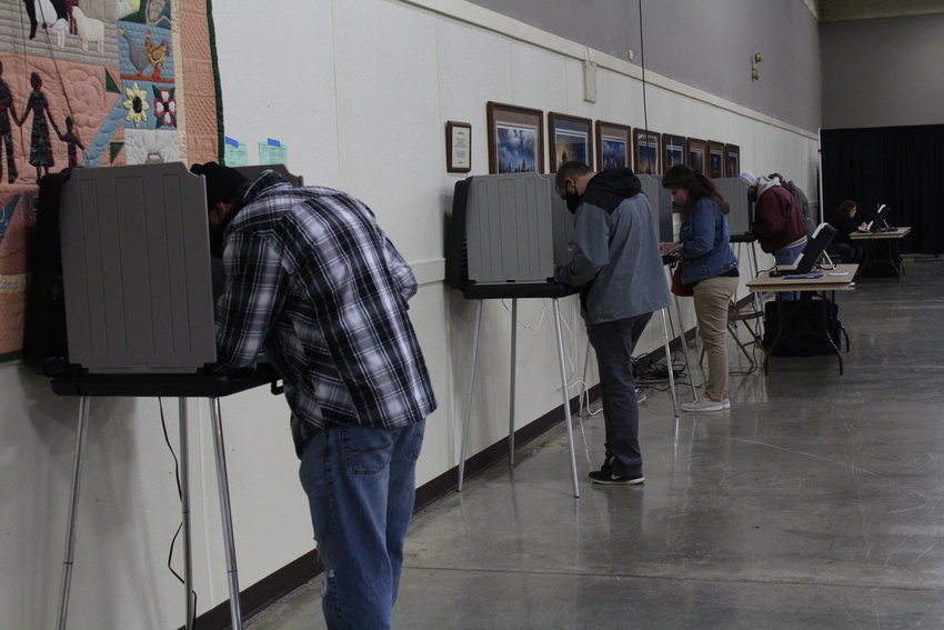 Seward County voters cast their ballots at the Ag Pavilion in Seward on Nov. 3.