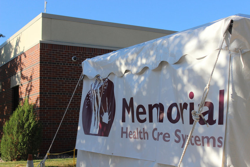 A tent outside of Memorial Health Care Systems was arranged in March specifically for COVID-19 testing. Healthcare workers still use that tent to conduct testing as the virus' spread through Seward County increases.