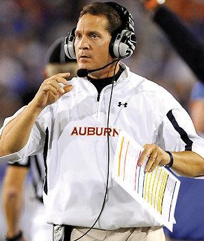 Auburn head football coach Gene Chizik