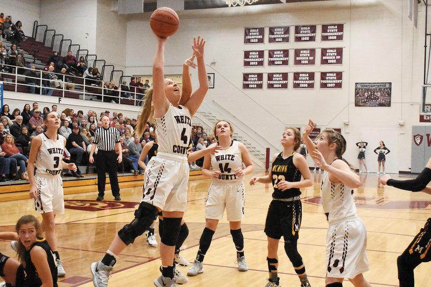 Gracie Dodgen for two vs. McMinn County