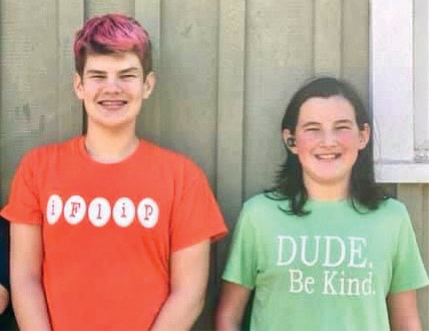 L-R: Ben Webster and Taylor Webster, children of Jody and Alanna Webster, will both be receiving their COVID-19 vaccines since it became available last week for children ages 12 and older.
