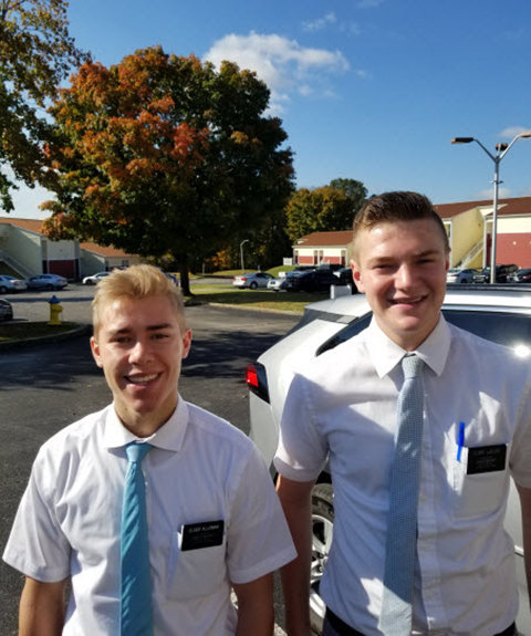 L-R: Elders Cameron Alleman and Braydon Ludlow