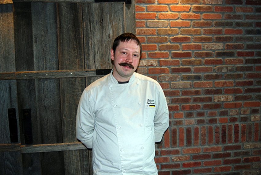 Photo by Eric Banford / Tompkins WeeklyColtivare Executive Chef Elliot Anderson crafts his menu with regional ingredients, including offerings from Tompkins Cortland Community College's farm.