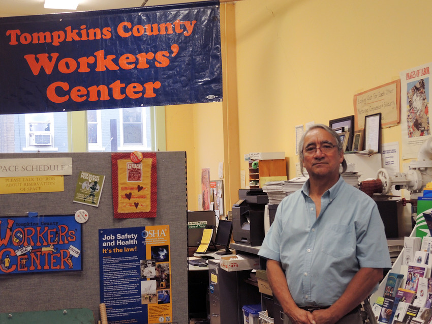 Photo by Sue Henninger / Tompkins WeeklyCarlos Gutierrez, where he works at Tompkins County Workers' Center.