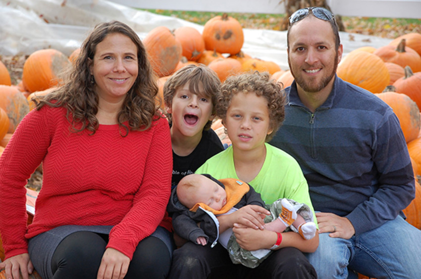 Photo ProvidedDavid Shapiro with his wife, Pamela Weisberg-Shapiro, and sons, Solomon (10), Clayton (8) and Jeremiah.
