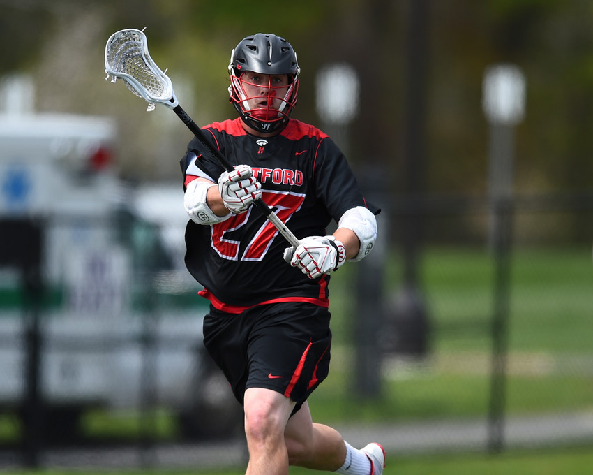 Doug Biondi, a 2013 IHS graduate, helped the University of Hartford capture the America East Conference lacrosse championship this year.