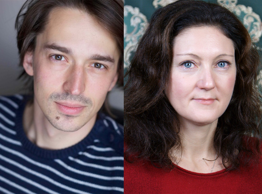 Photo provided by Cherry Art.Left: Frédéric Sonntag, writer of George Kaplan. Right: Rebekka Kricheldorf, writer of Testosterone.