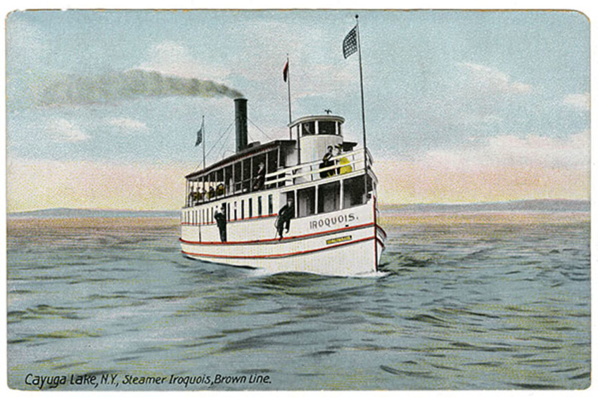 Photo provided.The Iroquois was one of the popular Cayuga Lake steamboats that traversed the lake before automobiles became popular in the area.
