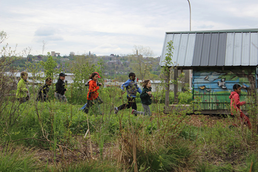 Photo provided by Ithaca Children's Garden.Children are encouraged to run, play, explore, and discover on field trips to Ithaca Children's Garden