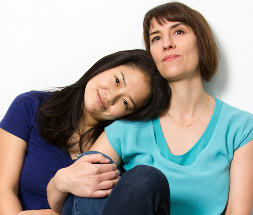 Photo provided by Kitchen Theater.Shannon Tyo, left, takes on the role of Vicky, and Jennifer Bareilles, right, as Erica.
