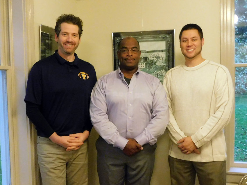 From left to right: Village Trustee Keith Hannon; Village of Trumansburg Chief of Police Joe Nelson; Village mayor Rordan Hart.