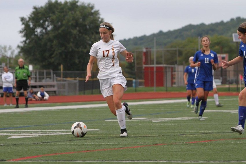 Ithaca Little Red's Seneca Blakely-Armitage lead the Little Red with seven goals during sectional play.