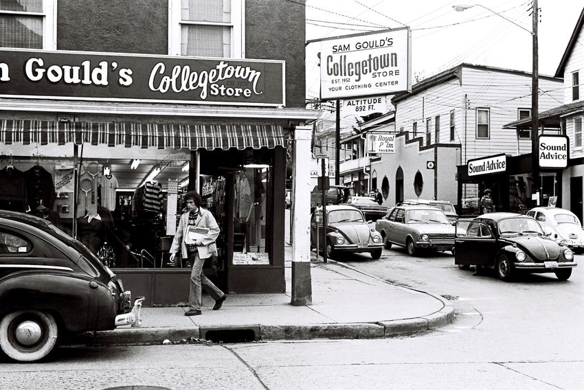In 1981, four years after this photo was taken, Collegetown started yet another big transition to build new commercial, housing, and parking facilities.