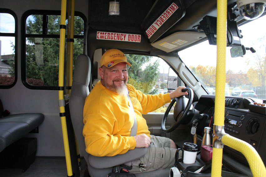 Corbett Lamphere, a driver with Gadabout who volunteered to drive voters to their polling place on Nov. 6, started driving at 8 a.m. last Tuesday. For the first time, Gadabout expanded their services to anyone who needed a ride to the polls for this year's midterm elections.
