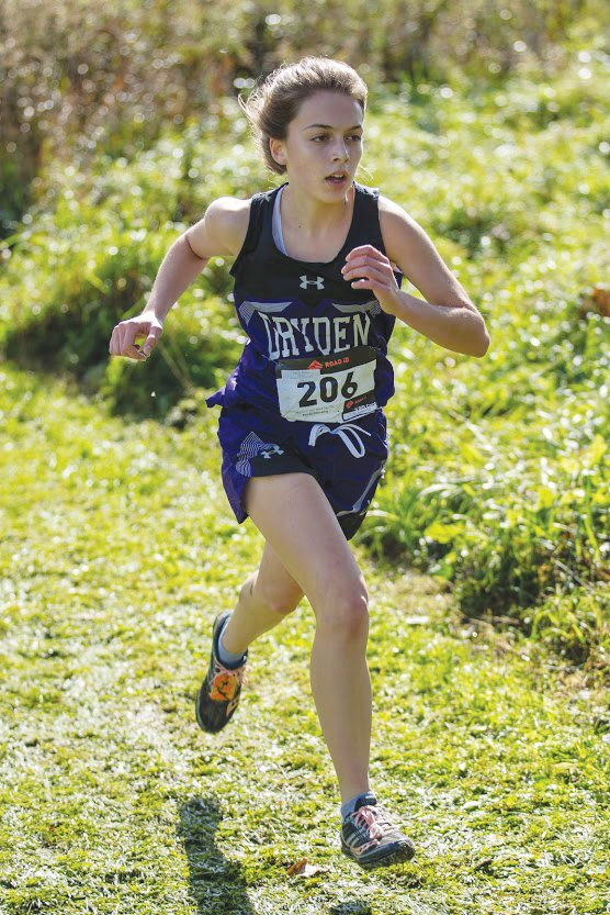 Dryden's Emily Miller was the fastest Tompkins County runner at the meet, finishing 14th out of 130 runners.