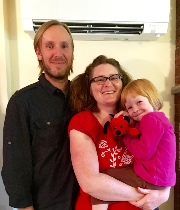 The White family, of Caroline, were able to seal their home with help from Sustainable Tompkins.