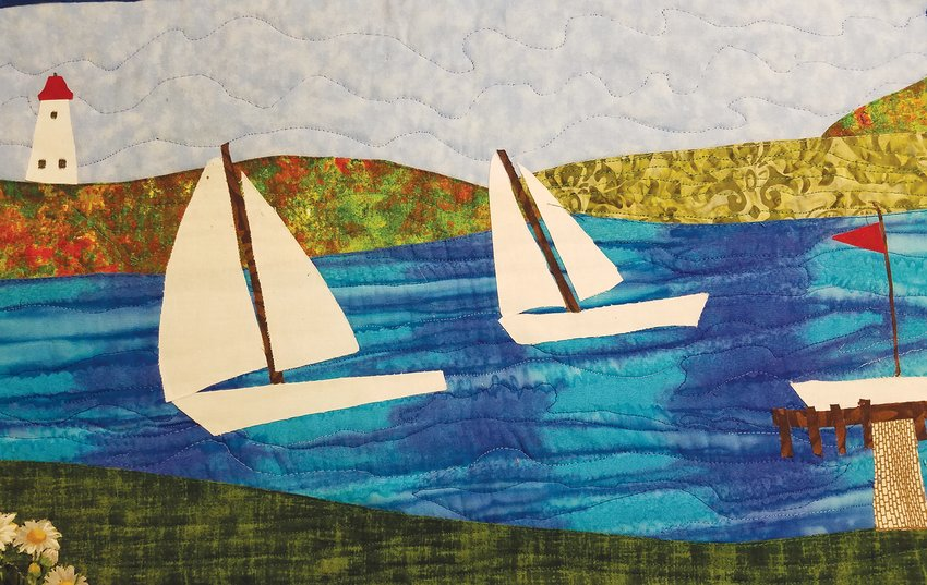 Cayuga Summer by Phyllis Rappaport (2' X 4')